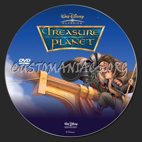 Treasure Planet dvd label