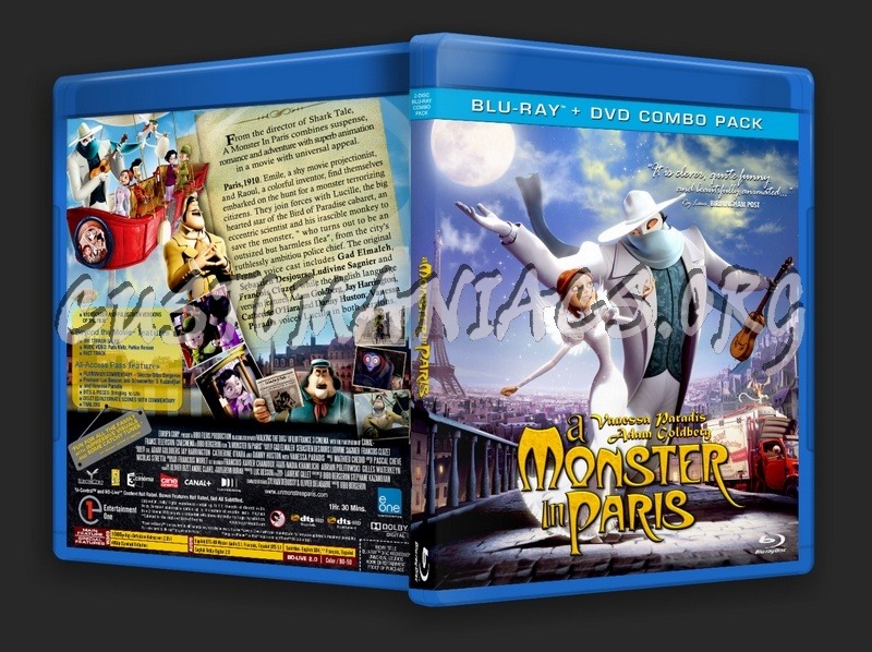 a Monster in Paris Dvd Cover a Monster in Paris 2011 Dvd