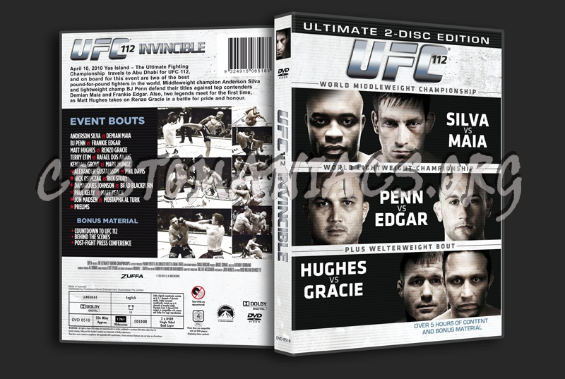 UFC 112 Invincible dvd cover -...