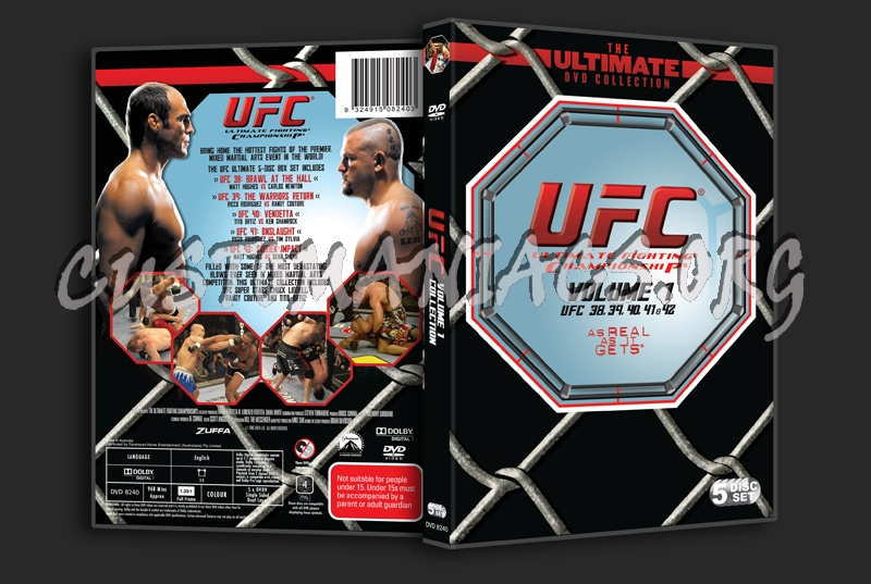 UFC Volume 1 dvd cover