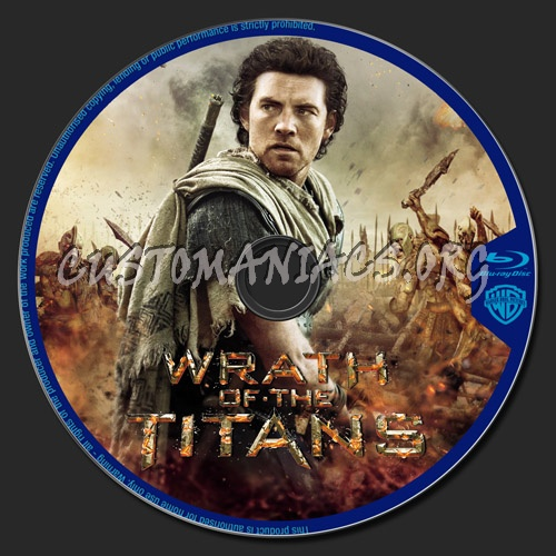 Wrath of The Titans blu-ray label