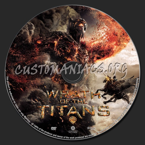 Wrath of The Titans dvd label