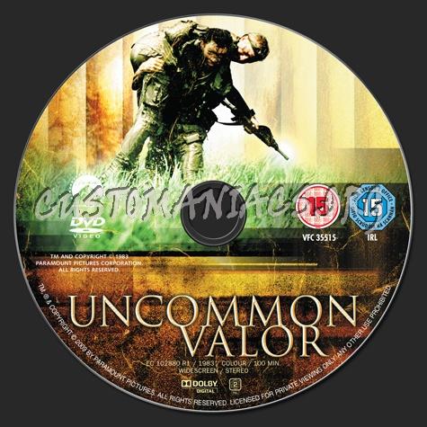 Uncommon Valor dvd label
