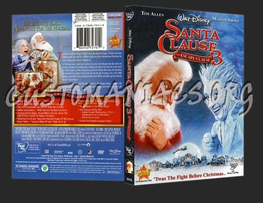 Santa Clause 3: The Escape Clause dvd cover