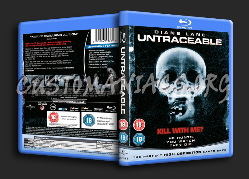 Untraceable blu-ray cover