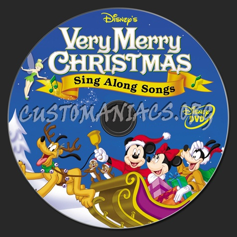 Disney Sing Along Songs Very Merry Christmas Songs 2002.Very Merry Christmas Sing Along Songs Dvd Label Dvd Covers