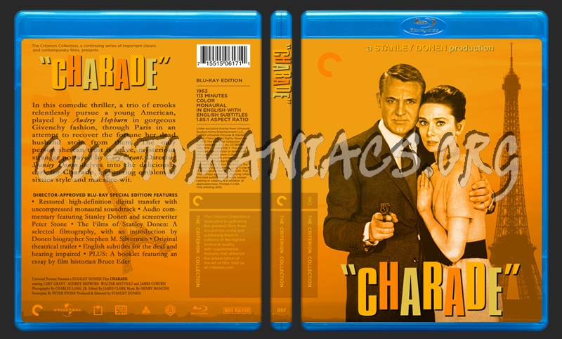 057 - Charade blu-ray cover
