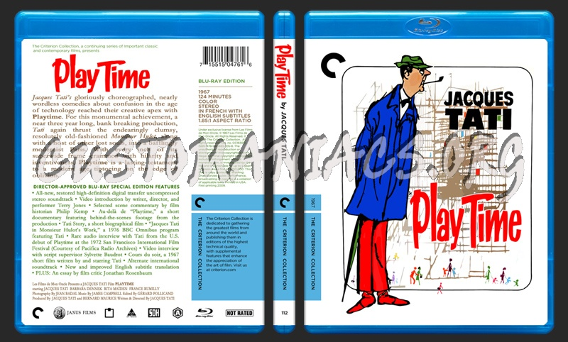 112 - Playtime blu-ray cover