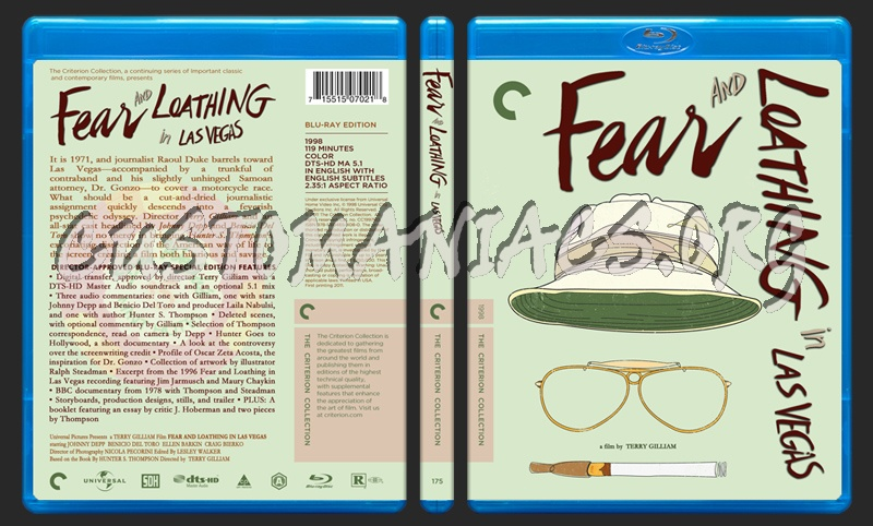 175 - Fear And Loathing In Las Vegas blu-ray cover