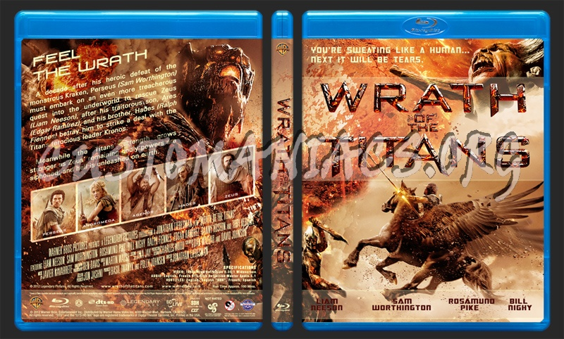 Wrath of The Titans blu-ray cover