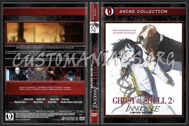 Anime Collection Ghost In The Shell 2 Innocence Limited Edition dvd cover