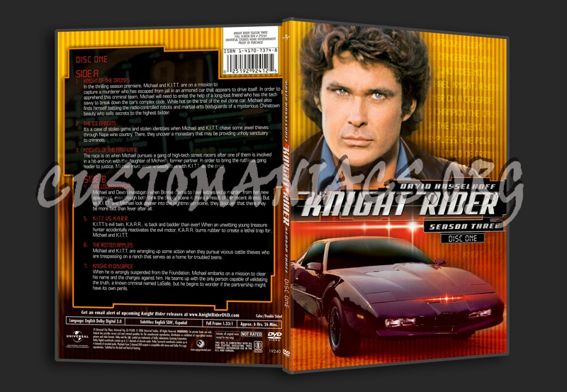 Knight Rider Season 3 - DVD Covers & Labels by Customaniacs