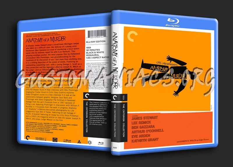 600 - Anatomy of a Murder dvd cover