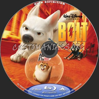 Bolt (2D + 3D) blu-ray label