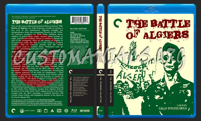 249 - Battle Of Algiers blu-ray cover