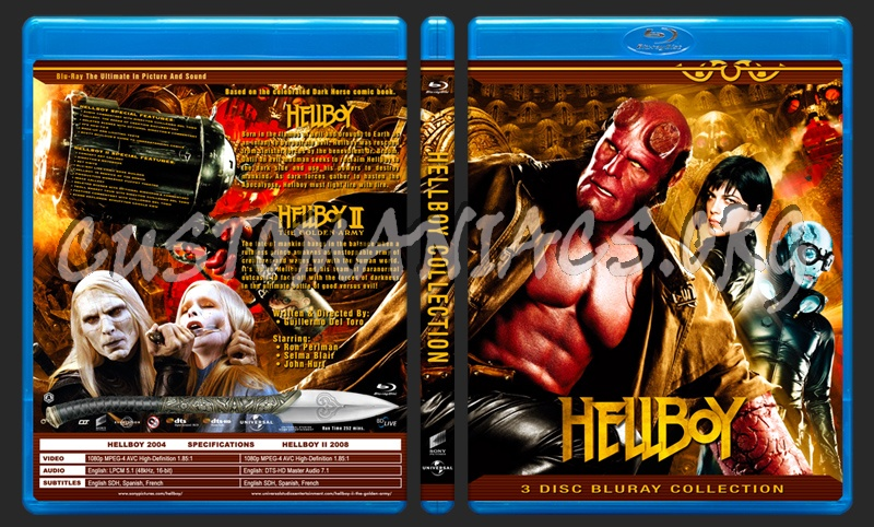 Hellboy Collection blu-ray cover