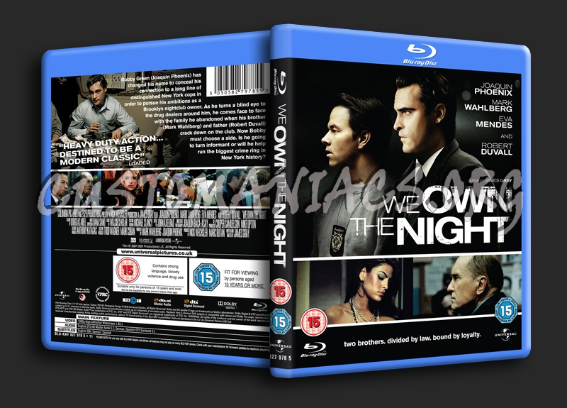 We Own the Night blu-ray cover