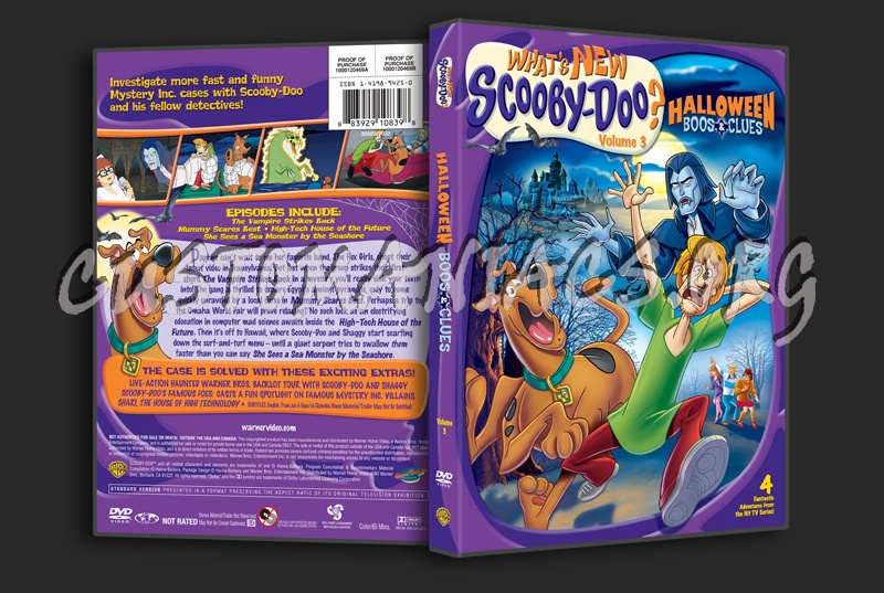 What's New Scooby-Doo Halloween Boos & Clues Volume 3 dvd cover ...