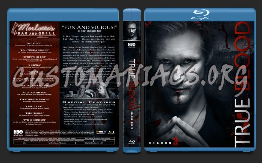 True Blood Season 3 blu-ray cover
