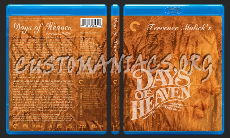 409 - Days Of Heaven blu-ray cover