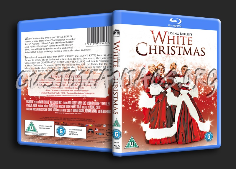 White Christmas blu-ray cover