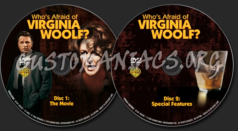 Who's Afraid of Virginia Woolf? dvd label