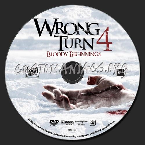 Wrong Turn 4 dvd label