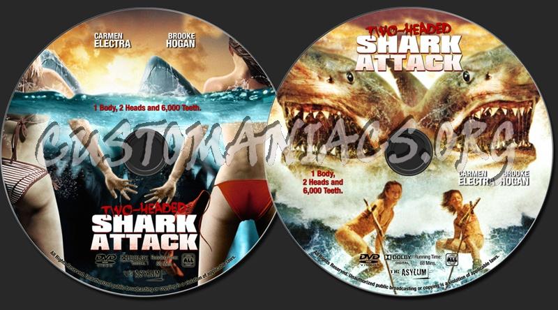 2 Headed Shark Attack dvd label