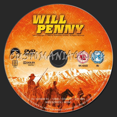 Will Penny dvd label
