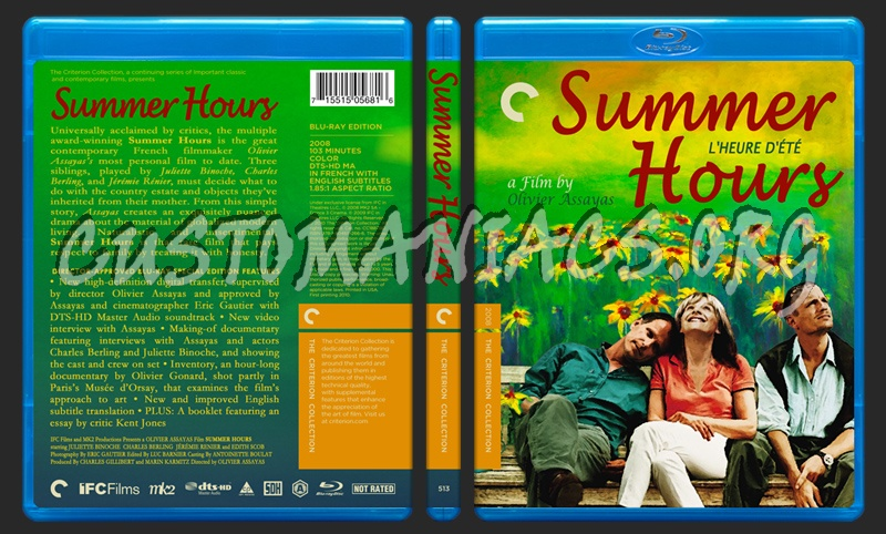 513 - Summer Hours blu-ray cover