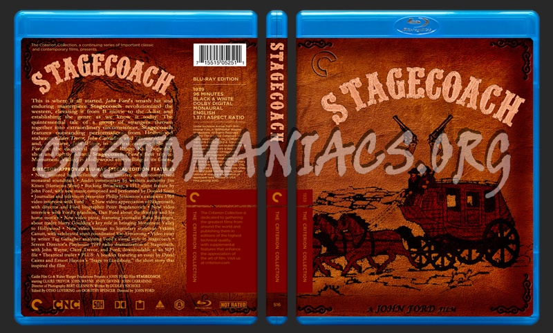 516 - Stagecoach blu-ray cover