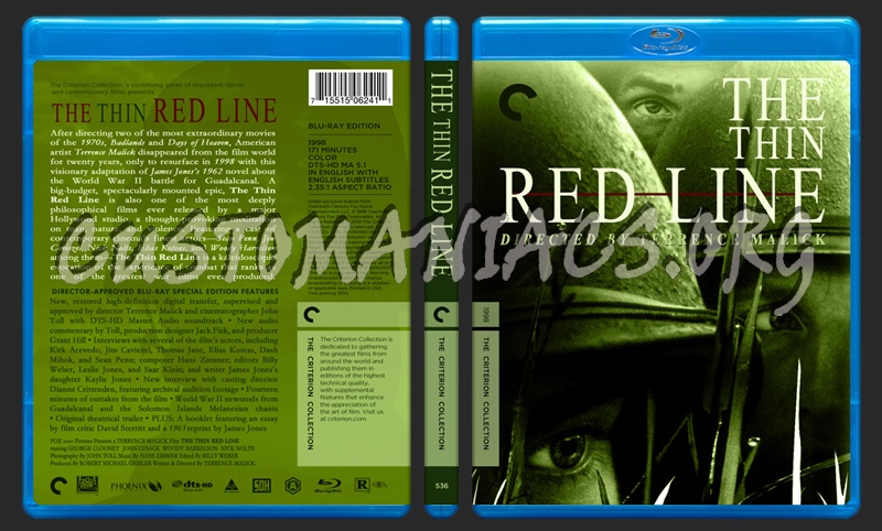 536 - The Thin Red Line blu-ray cover