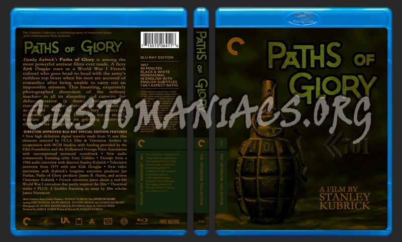 538 - Paths of Glory blu-ray cover