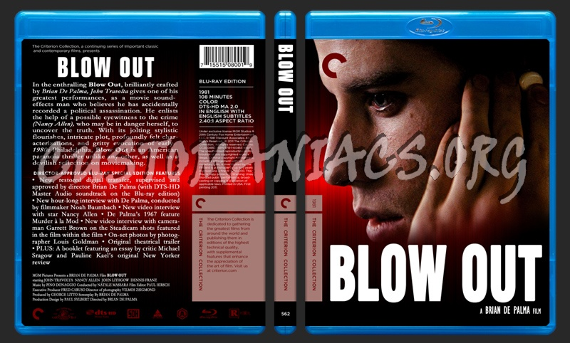 562 - Blow Out blu-ray cover