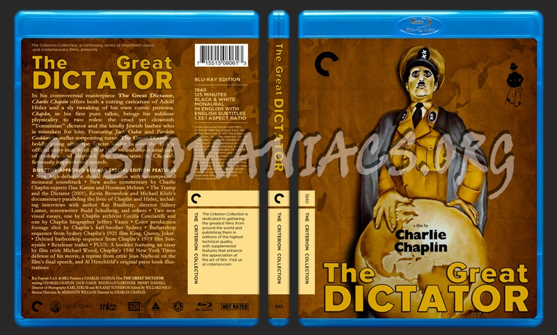 565 - The Great Dictator blu-ray cover