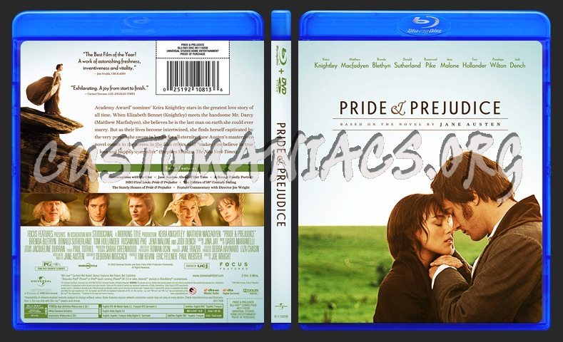 Pride and Prejudice (Pride & Prejudice) blu-ray cover