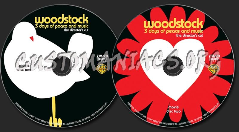 Woodstock dvd label