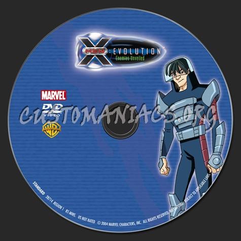 X-Men Evolution Enemies Unveiled dvd label