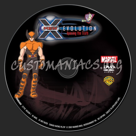 X-Men Evolution Xposing the Truth dvd label