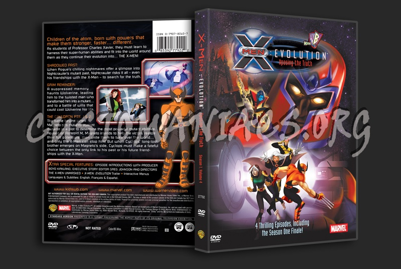 X-Men Evolution Xposing the Truth dvd cover
