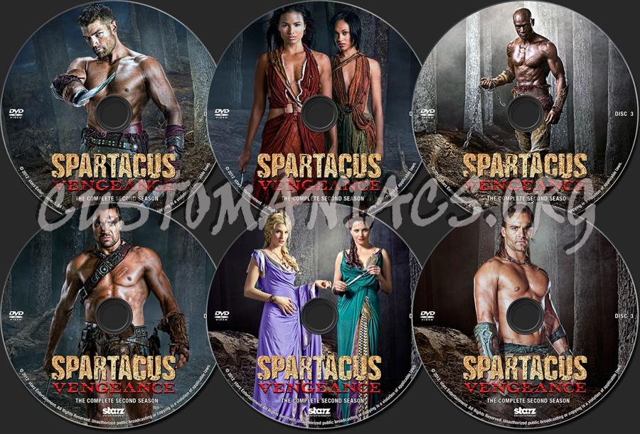 Spartacus: Vengeance Season 2 dvd label