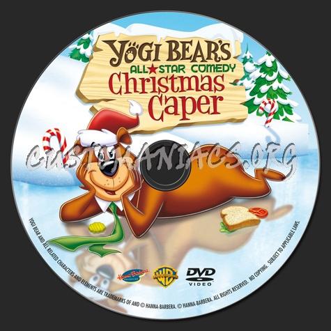 Yogi Bears All Star Comedy Christmas Caper.Yogi Bear Christmas Caper Dvd Label Dvd Covers Labels By