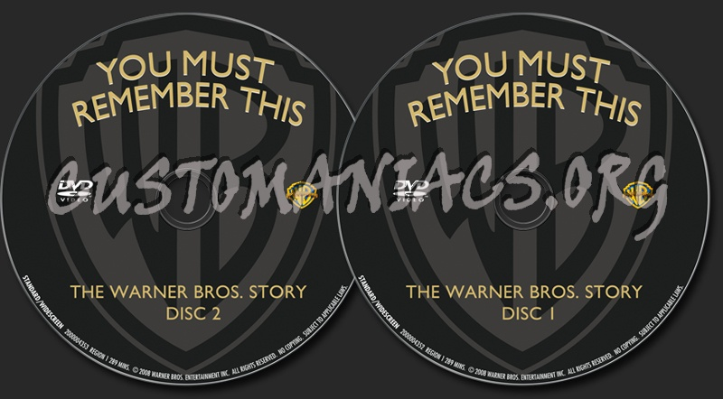 You Must Remember This The Warner Bros Story dvd label