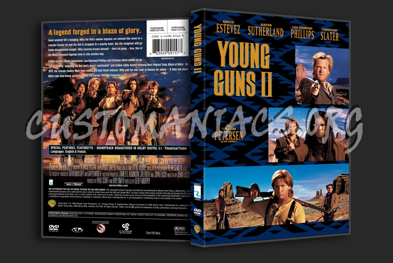 Young Guns 2 dvd cover
