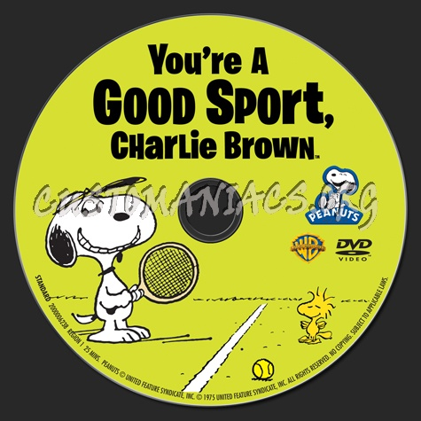 You're A Good Sport, Charlie Brown dvd label