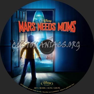 Mars Needs Moms blu-ray label