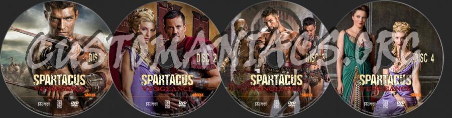Spartacus Vengeance dvd label