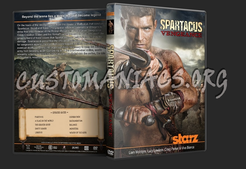 Spartacus Vengeance dvd cover