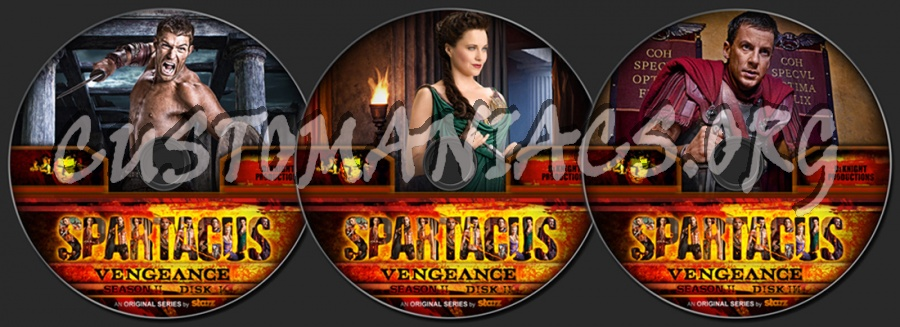Spartacus Vengeance Season 2 dvd label