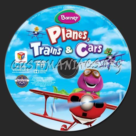 Barney Planes, Trains & Cars dvd label